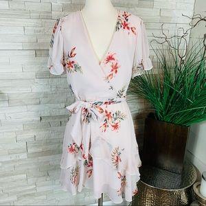 Willow & Clay Floral Print Medium Mini Dress